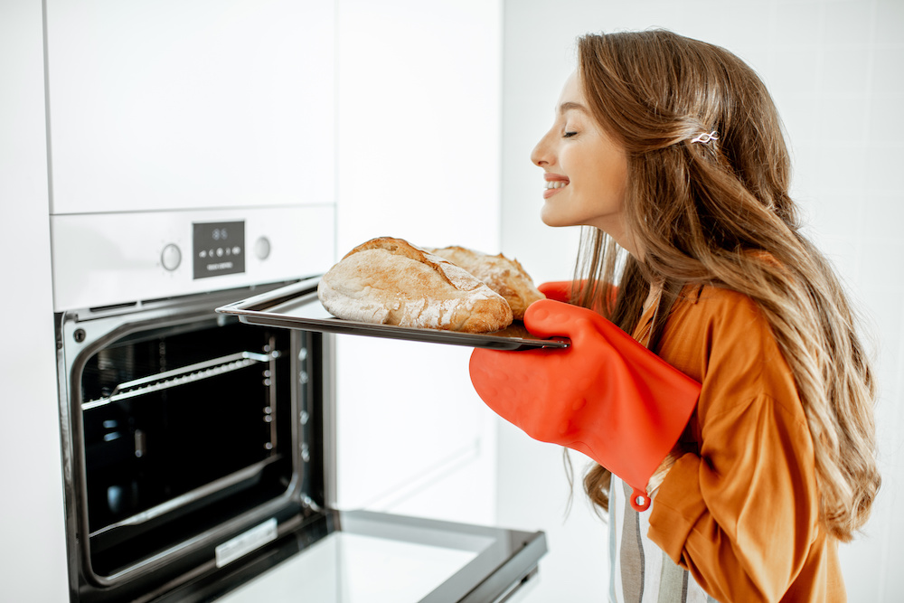 baking bread in convection oven
