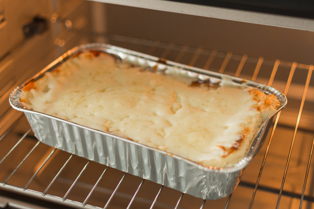 how long to cook frozen lasagna in convection oven