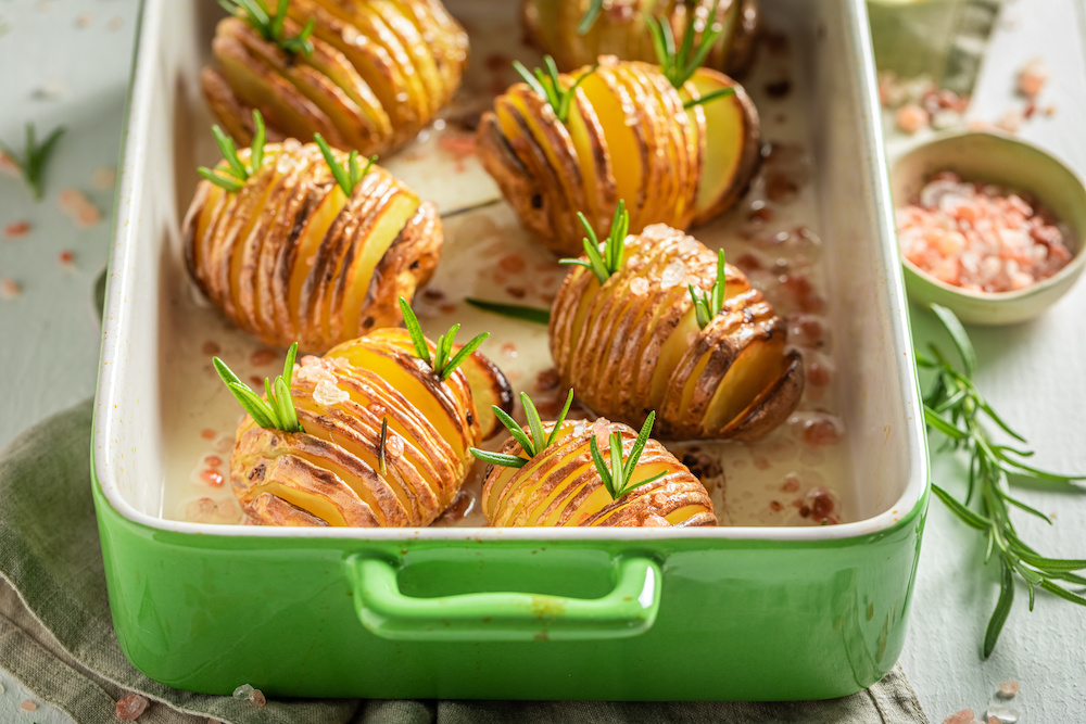 baked potatoes in convection oven